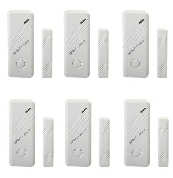 6 x Wireless Contact Door&Window Magnet Sensor Detector for Personal Home Security 3G GSM Alarm Panel Sensitivity Alarm System 6pcs/lot