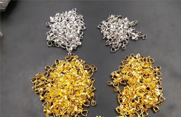 Aleación de plata colgante de ágata calcedonia de hebilla colgante de oro solo hebilla 50 piezas
