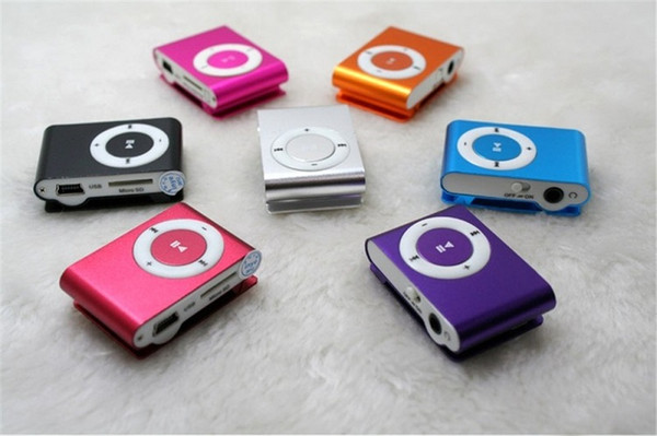 best selling Mini Clip MP3 Player - Hot Cheap Colorful Sport MP3 Players Come without Earphone USB Cable Retail Box Support Micro SD   TF Cards
