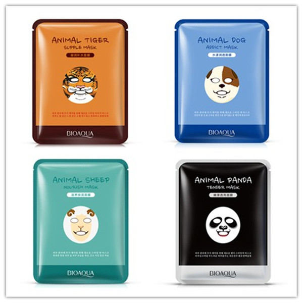 top popular DHL free shipping BIOAQUA Tiger Panda Sheep Dog Shape Animal Face Mask Moisturizing Oil Control Hydrating Nourishing Facial Masks 2021