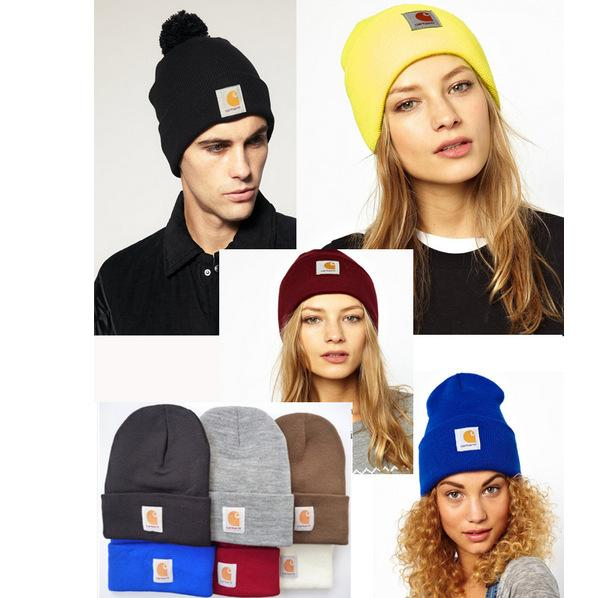 Fashion Designer Skull Beanies Hats For Adults Mens Womens Winter Beanie Pom Knit Blank Hip Hop Slouchy Cap 36 Colors