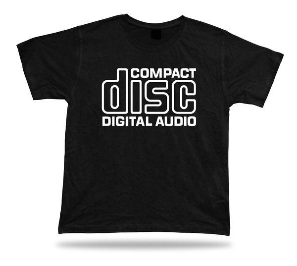 "Compact Disc Digital Audio Vintage Retro Electronics T Shirt Bass Funny Music "" Short Sleeves Cotton - Shirt Free Shipping """