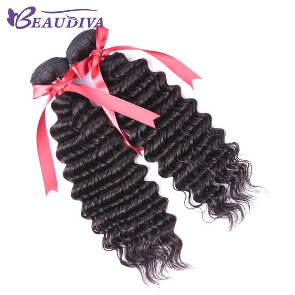 Beauvida Peruvian Unprocessed Virgin Hair 2 Pcs Hair Weave Bundles No Shedding&Tangle Human Hair Bundles Free Shipping deep Wave soft weft