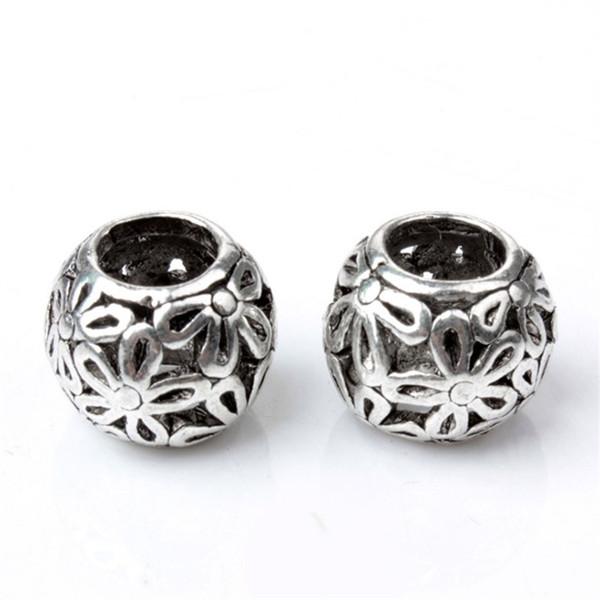 Daisy Flower Round Alloy Charm Bead Fashion Women Jewelry Stunning Design European Style For Pandora Bracelet Necklace