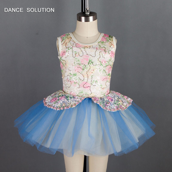 Color Sequin Lace Bodice Ballet Tutu Girl Stage Performance Ballet Costume Child Tutu Kid Dancewear