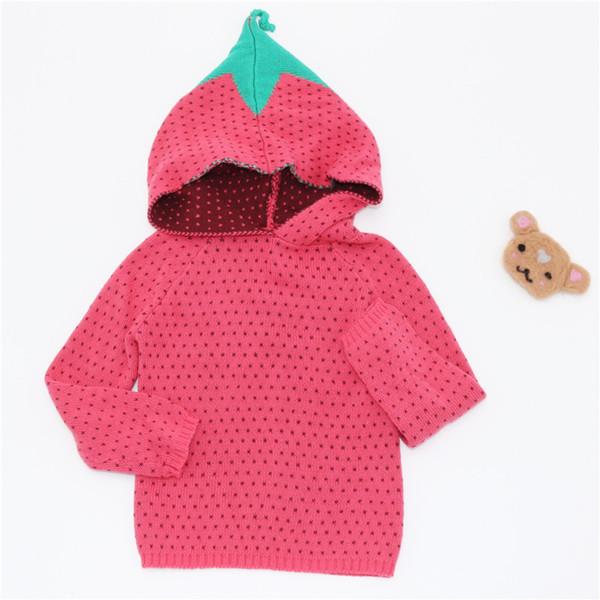 ZTKIDS Neuheiten Kreative Baby Mädchen Pullover Rote Erdbeere Kawaii Tops Für Jungen Kleinkind Kleine Kinder Kleidung Winter Pullover