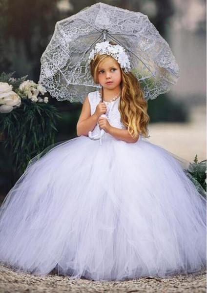 Compre La Reina Blanca Traje Bordado Lentejuelas Niñas Vestidos Del Desfile 2018 Vestido De Bola Vestido De Boda De Fiesta árabe Para Niños A 8041