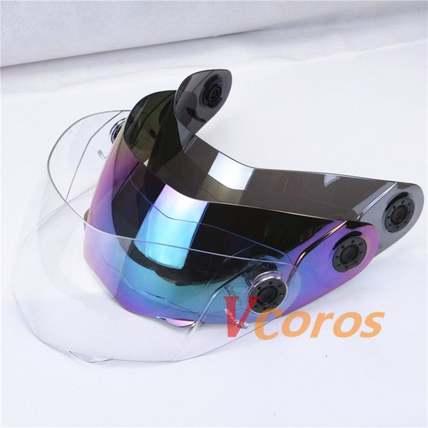JIEKAI 105 Modular Motorcycle helmets Windshield glass visor motorbike flip up motorcycle helmet lens clear silver rainbow