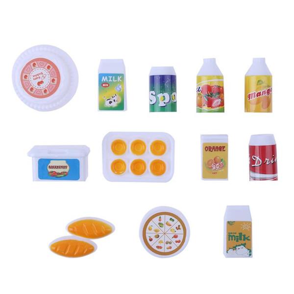 12 Pçs / set Boneca de Pelúcia Brinquedos Presente Exclusivo Mini Simulação Beber Bonecas Acessórios para Casa Decoração para Crianças Brinquedo Clássico