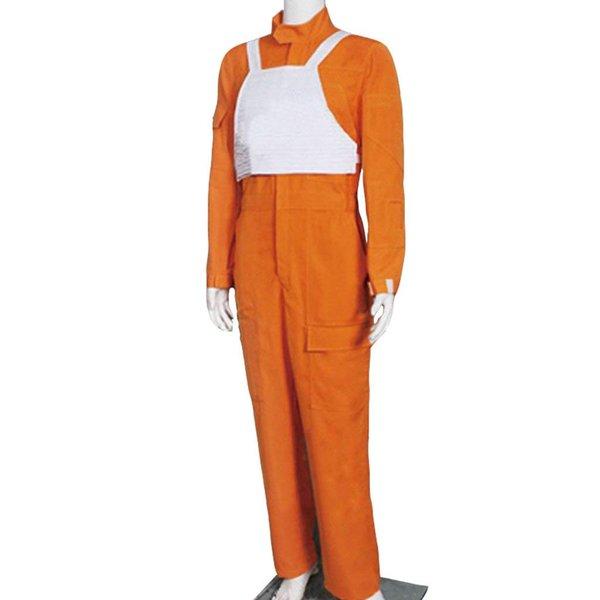 Men's Orange Jumpsuit for Star W X Wing Pilot