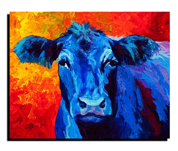 Acheter Peinture À L'huile Taureau Bleu Sans