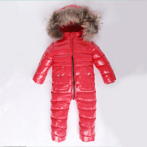 96c0e446f9e -30 Winter Snowsuit Baby 80% duck Down Romper Outdoor Infant Overcoat  Clothes Girls Overall