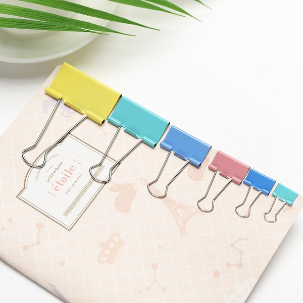 School Supplies Binder Clips 12pcs per Barrel 51mm Cheap Clips for School and Office Deak Accessories Free Shipping