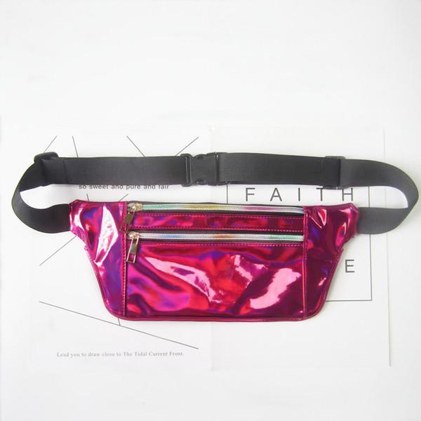 Rainbow Sequin Motif Bum Sac Festival Fanny Pack Bum Sac Argent Sac Ceinture