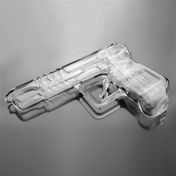 Glass Water Pipes Gun Smoking Pipe Water Bong Oil Rig Wax Pen Dry Herb Vap glass pistol bongs smoking pipe oil rigs dab