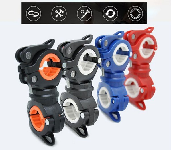 Bike Light Holder Clamp WOSAWE 360 Degree Rotating Torch Clip Bicycle Light Clip Mountain Bike Lamp Pump Handlebar Holder Free Shipping