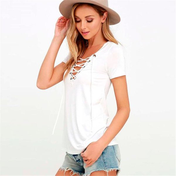NEW Fashion Womens Loose Pullover Shirt Short SleeveTops Shirt Blouse Summer Beach Blouse Casual White Women A20