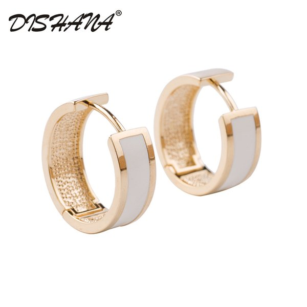whole saleNew 2016 Simple Jewelry Small Circle Gold Hoop Earrings for Women Party Bijoux Gift Brincos Accessory(E0614)