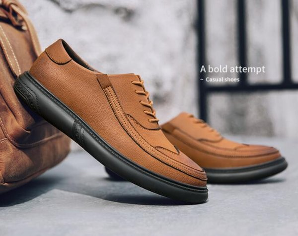 2019 Fashionable Men'S Casual Shoes Bullock Carved Comfortable Loafers Lazy  Shoes Fine Multiple Material Stitching Hairstylist Shoes 162 Formal Shoes
