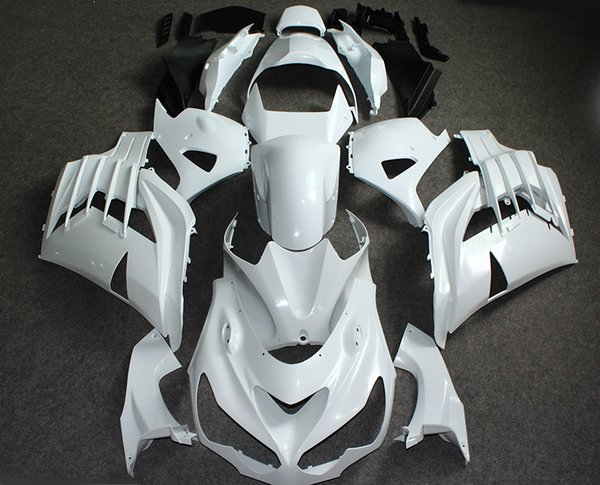 ALLGT Motorcycle Unpainted White Full Fairing Kit Bodywork For Kawasaki NINJA ZX14R 2012 12 Injection Mold Fairings