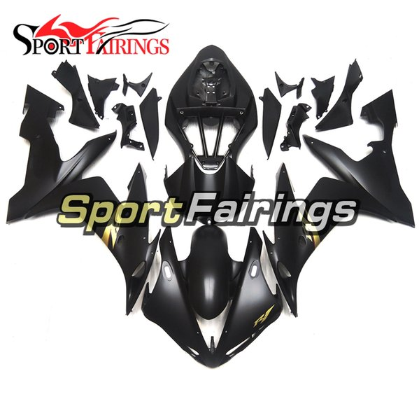 Complete Fairing For Yamaha YZF1000 R1 Year 2004 - 2006 04 05 06 ABS Plastics Injection Motorcycle Bodywork Matte Black With Gold Decals New