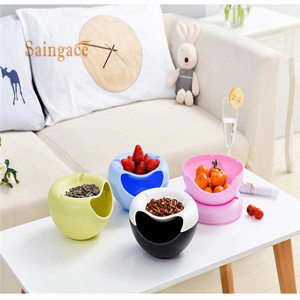 Kreative Melone Samen Nussschale Tisch Süßigkeiten Snacks Trockenfrüchte Halter Aufbewahrungsbox Tellerschale Mit Handy Stents # Yh15