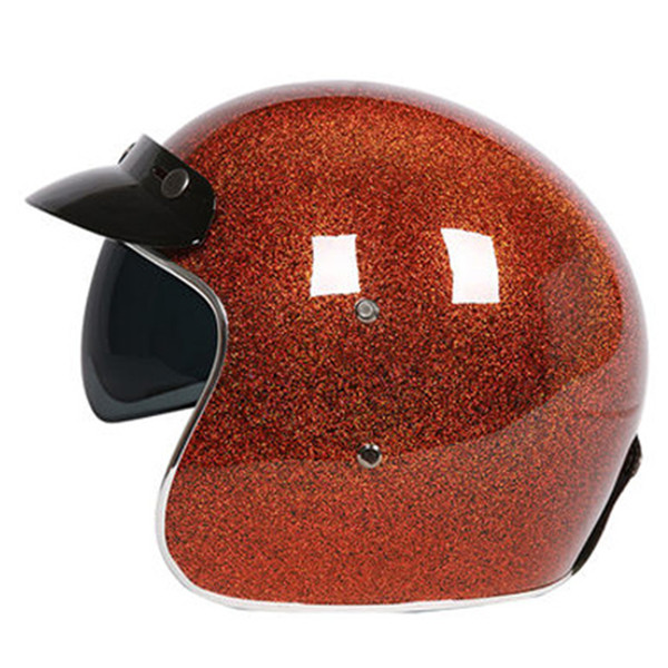 CFR flash painted 3/4 Open face helmet High level Fiberglass shell light weight and comfortable ECE approved moto casco