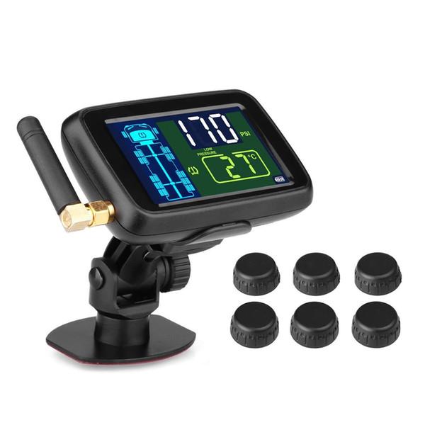 OBEST Система контроля давления в шинах Беспроводная TPMS с 6 датчиками для прицепа RV