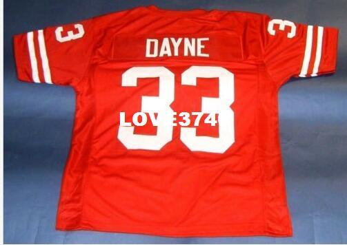 top popular Men #33 RON DAYNE CUSTOM WISCONSIN BADGERS College Jersey size s-4XL or custom any name or number jersey 2019