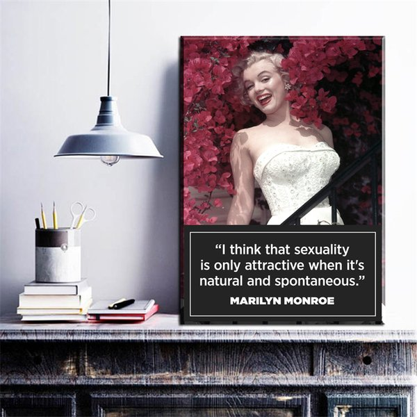 1 Panel Black White and red Canvas Prints Marilyn Monroe Portrait Canvas Art Home Decor Wall Art Pictures Wall Painting No Frame