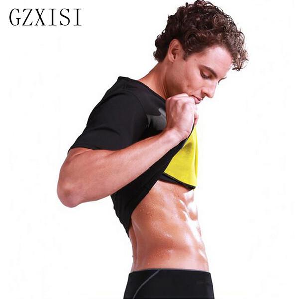 GZXISI Hot Shapers Men Ultra Sweat Thermal Muscle Shirt Neoprene Slimming Body Shaper Belly Waist And Abdomen Belt Shapewear Top