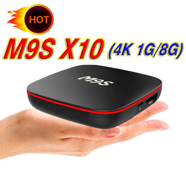 En iyi M9S X10 TV Kutusu Akıllı Android 7.1 RK3229 Dört Çekirdekli 1 GB 8 GB EMMC Flaş WiFi 4 K 3D HDMI 2.0 Medya Oynatıcı Daha Iyi MXQ PRO 4 K S905W