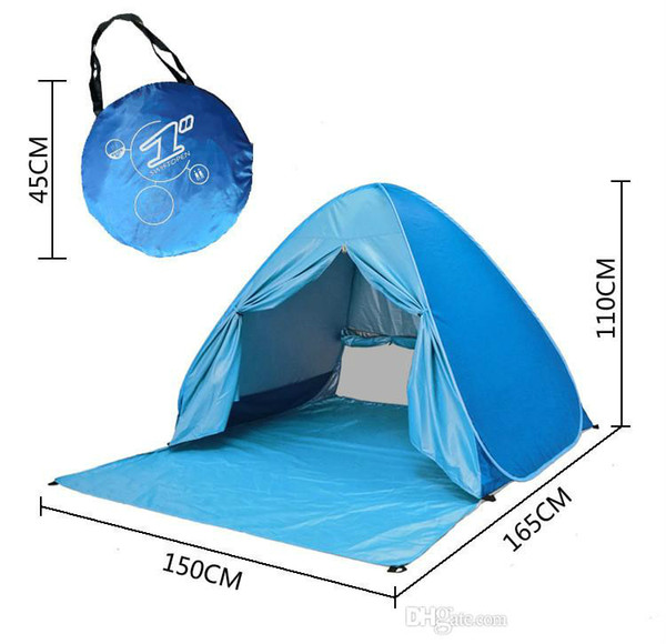 best selling Wholesale- Designer Graduation Tourist Tent Outdoor Hiking Camping Tent 2-3 People UV Protection Tent Beach Lawn Party 10PCS Colorful