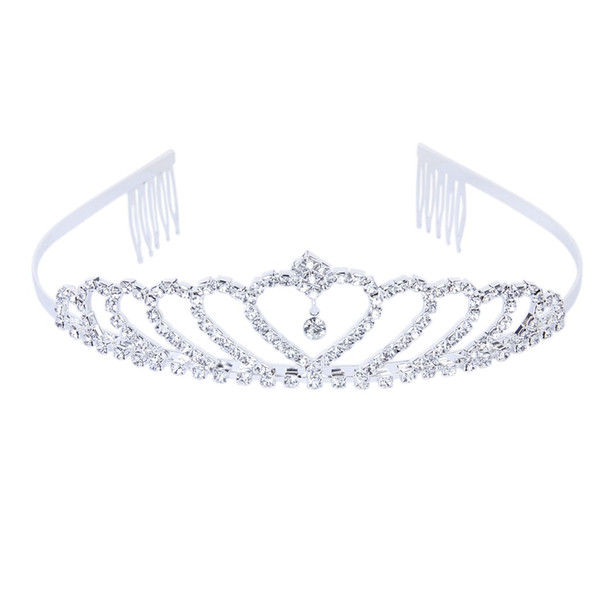 Crown tiara prince headband tyli h rhine tone with pin for wedding hipping