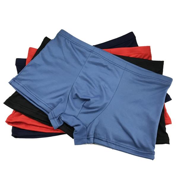Hombres Boxer Mens Underwear 4 Unids / lote Mens Boxer Shorts Calzoncillos Modal vainas de la comodidad Confort entrepierna bragas masculinas más el tamaño