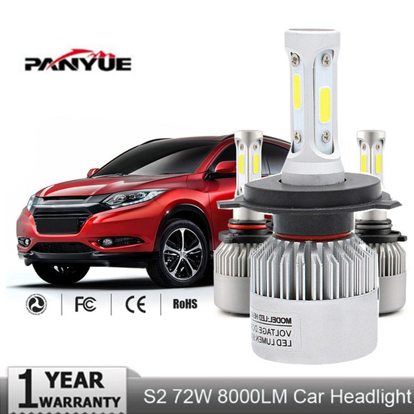 top popular H4 H7 H11 H13 9005(HB3) 9006(HB4) COB LED Car Headlight Bulb Single Hi-Lo Beam 8000LM 6500K DRL Auto Led Head Lamp 2021