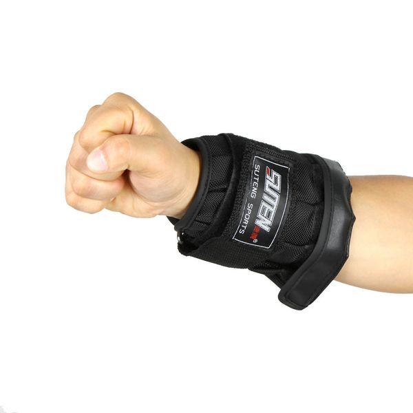 Alimentation 2Fit Poids de levage poignet Wraps De Soutien Gym Entraînement Bretelles Noir /& Rouge