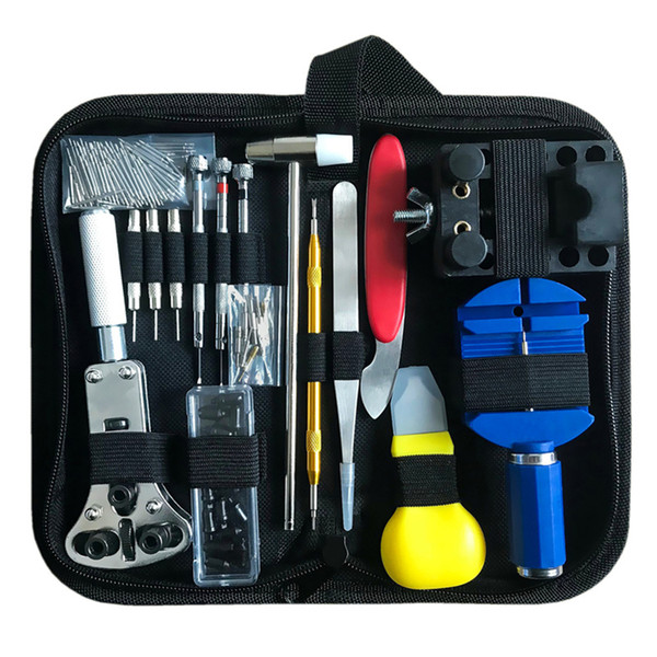 free shipping watch repair kit fix watch tool set watch repair tools 15pcs combo dismantle tool change battery open cover operation