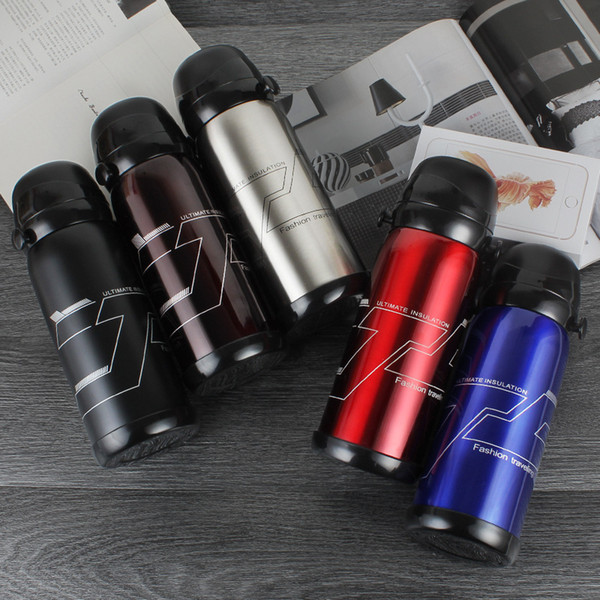 Vacuum Cup Stainless Steel Mug Double Gift Thermos cup Double-cover Dual-purpose Large-capacity Outdoor Travel Pot 5 colors