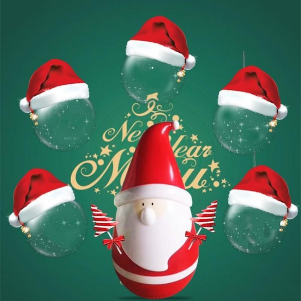 USB Charging Loudspeaker Box Push Button 360 Degree Music Surround Tumbler Speaker Christmas Santa Claus Shape Sound Boxes 42af ff