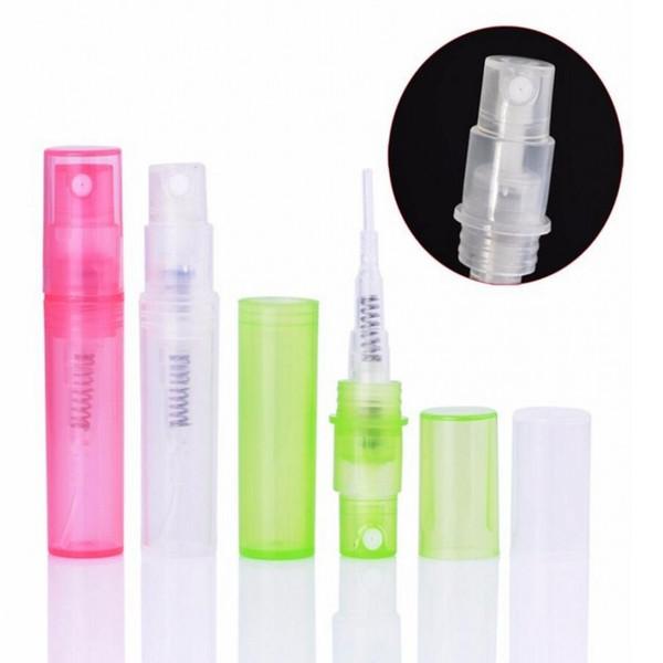 2 ml (1000 unids / lote) Mini Vaporizador de Perfume Frascos de Perfume Muestra de Botella Atomizador Perfumes Botellas envío gratis