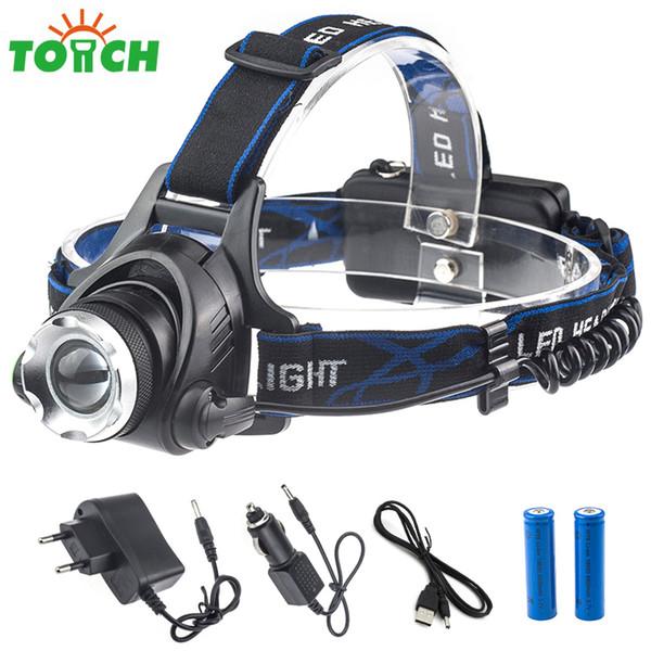 CREE XML T6 Led Powerful Cycling Headlamp Waterproof Zoom Lantern Headlight Hunting Helmet Head Lamp for Outdoor Lighting