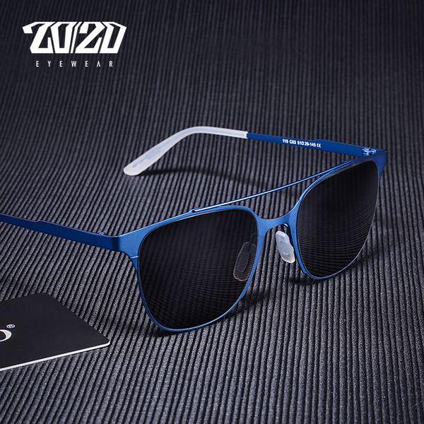 20/20 Brand Unisex Sunglasses Men Vintage Women Alloy Frame Glasses Eyewear Accessories Driving Sun Glasses Oculos UV400 PC115