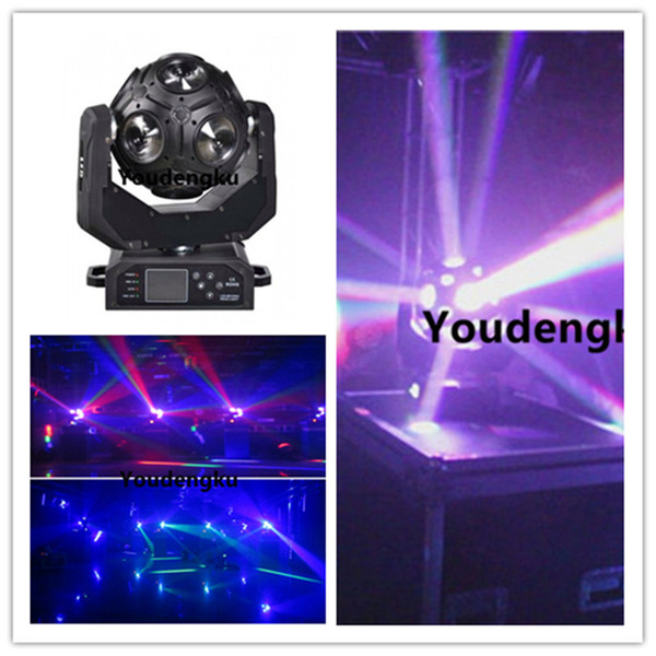 10 peças 12x20 w RGBW 4em1 DMX rotação infinita led movendo cabeça bola luz de futebol Moving Head led feixe de luz