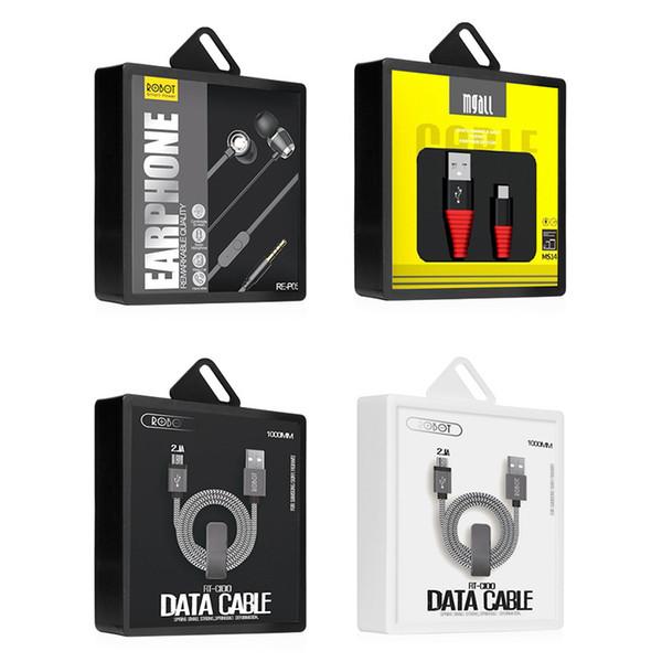 500 adet / grup Kişiselleştirilmiş Ambalaj Kutusu Kablosuz Şarj USB Şarj Logosu Kulaklık için Ekleme Güç Bankası Ambalaj