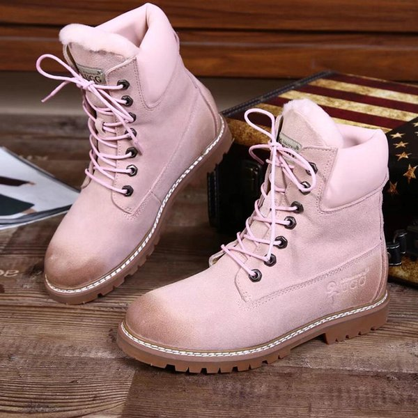 Women Boots Warm Winter Shoes Snow Boots Fashion Lace Up Winter Botas for Women Ankle Boots Girl Outdoor Casual Shoes VGG Luxury Brand