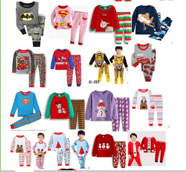 Navidad Pantalones 7T dormir Pullover Niños 2 Pijamas Niño Chica de de Ropa camiseta tTYxTwqd7