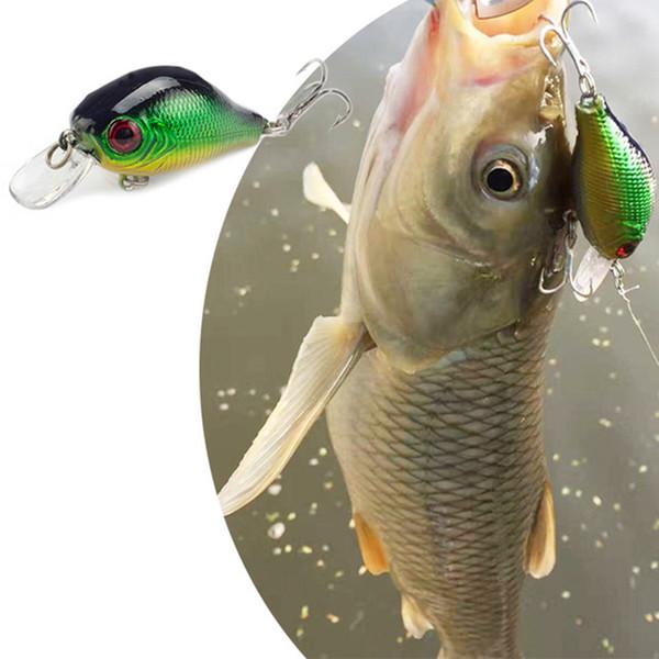 SEALURER Floating Wobbler Fishing VIB Lure 5cm 9G Artificial Fly Pesca Crankbait Hard Bait Jerkbait Tackle 5color Available 1Pcs Y18100806