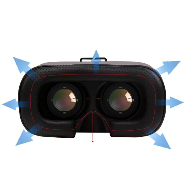 New VR BOX VR CASE 5th Upgraded Version Virtual Reality 3D Glasses for 3.5 - 6.0 Smart Phone iPhone 5S 6 6S Plus With Controller