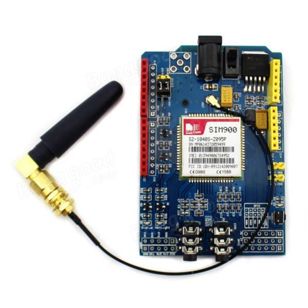 SIM900 Quad Band GSM GPRS Escudo Placa de Desenvolvimento Para Arduino 2018 novo GSM / GPRS SIM900 Módulo Placa de Expansão módulo sem fio para uno r3